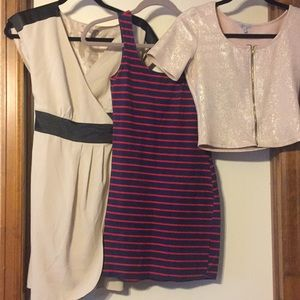 Dresses and shortie top, Medium
